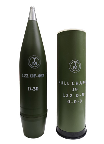 122 mm high-explosive fragmentation round - Transmobile Ltd.